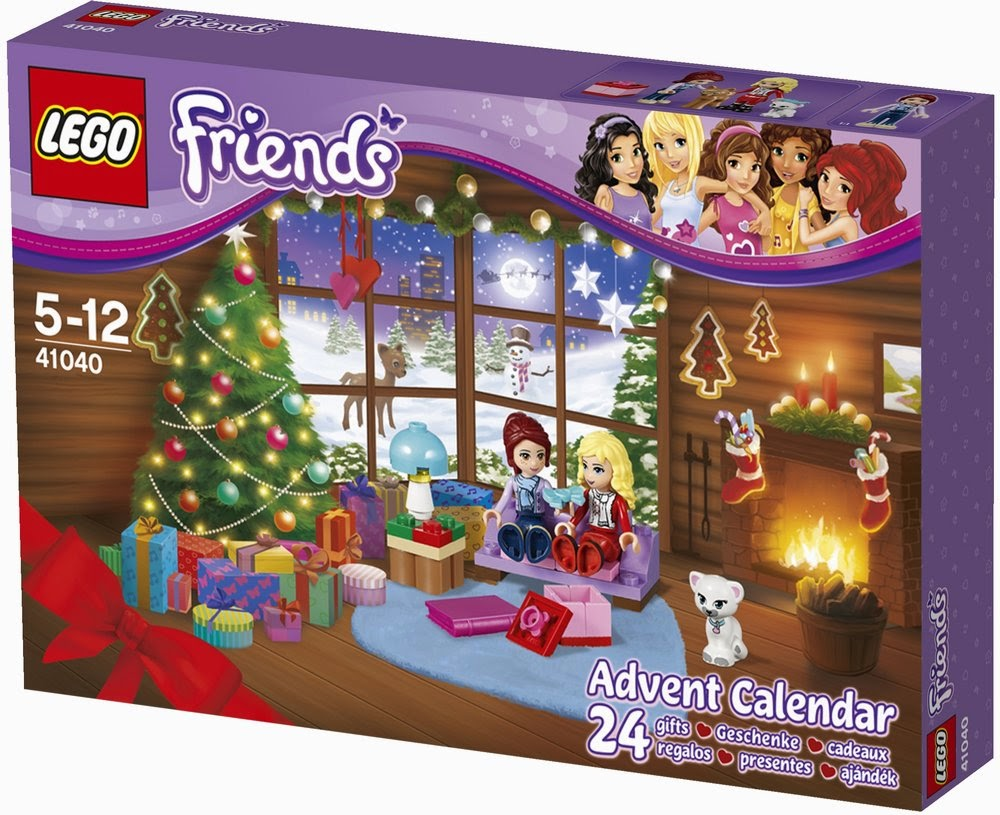 Image  LEGO Friends Advent Calendar 2014 box front 41040 largest