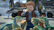 Owen with his Raptors