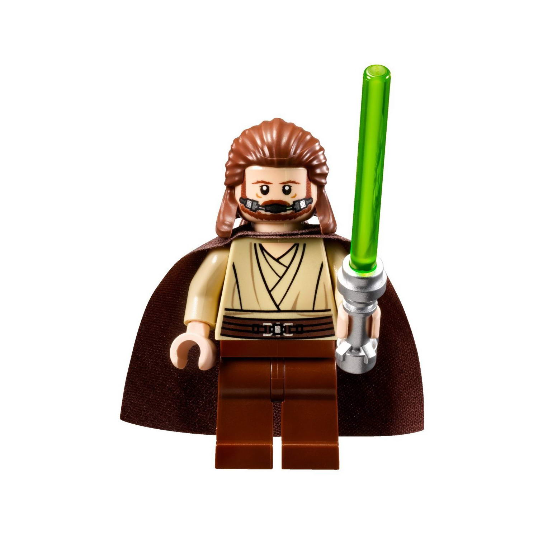 Zabawki konstrukcyjne Lego Star Wars Minifigure Qui-Gon Jinn Split From The Set 75169 Duel On Naboo