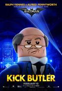The LEGO Batman Movie Poster Personnage Alfred Pennyworth