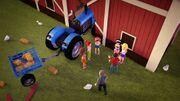 Accident tracteur-Filles de la campagne