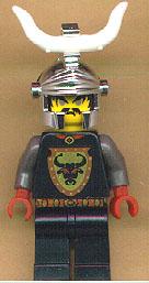 Cedric The Bull- Silver helmet