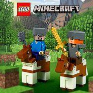 Vignette Minecraft chevaux