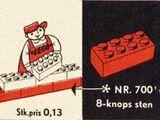 700/1/1 Individual 2 x 4 Bricks