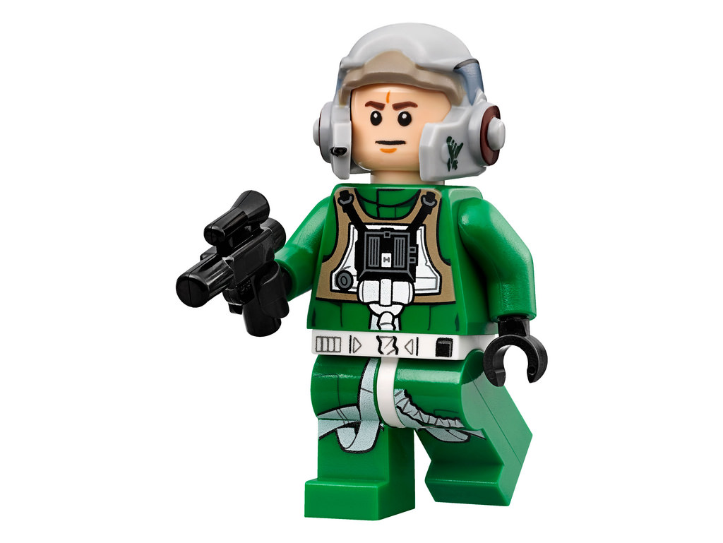 Lego Star Wars A-Wing Pilot minifigure from set 75003