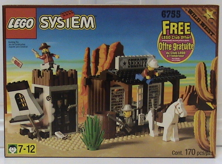 Lego 6755 Western SHERIFF/'S LOCK-UP Complete w//Instructions