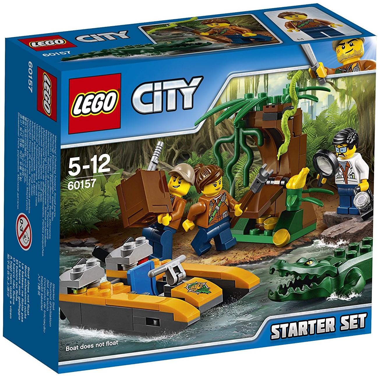 LEGO CITY NEW Scientist Female /& Male Explorer 60157 Minifigure Jungle Starter