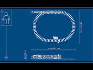 60197 Le train de passagers télécommandé dimensions