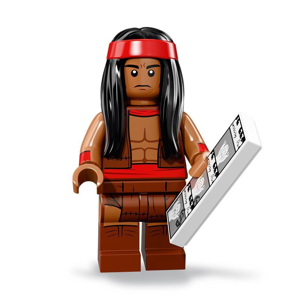 LEGO 2 NEW NATIVE AMERICAN INDIAN MINIFIGURES CHIEF AND WOMAN WITH WEAPONS
