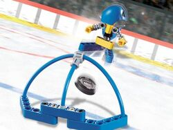 3557 Blue Player and Goal
