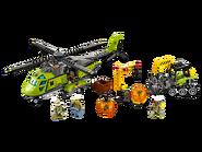 60123 L'hélicoptère d'approvisionnement du volcan