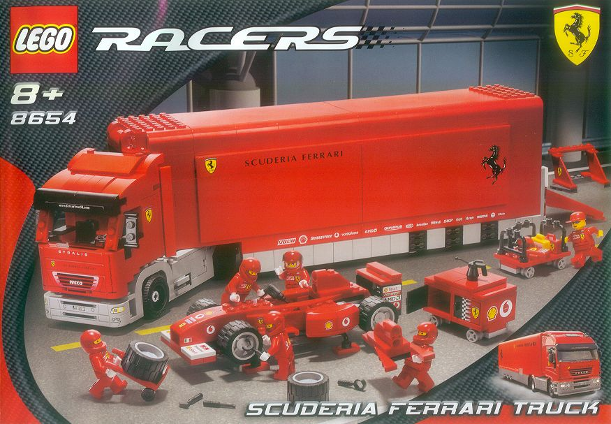 8654 Scuderia Ferrari Truck Brickipedia Fandom Powered