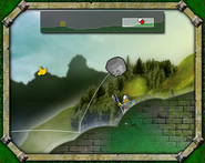 Boulder hitting knight