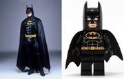 Batman film suit adapted into a minifigure form