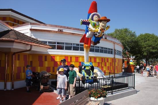 Image - Downtown Disney Buzz and Woody.jpg   Brickipedia   FANDOM ...