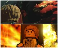 LEGO The Hobbit Smaug and Bilbo