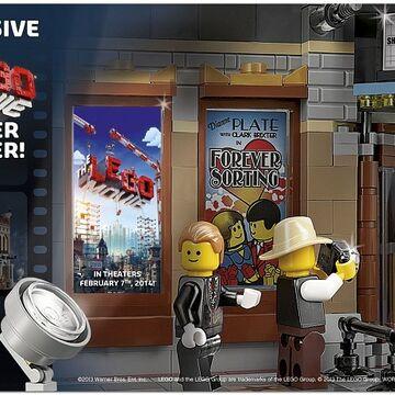 5002891 The Lego Movie Mini Poster Sticker Brickipedia Fandom