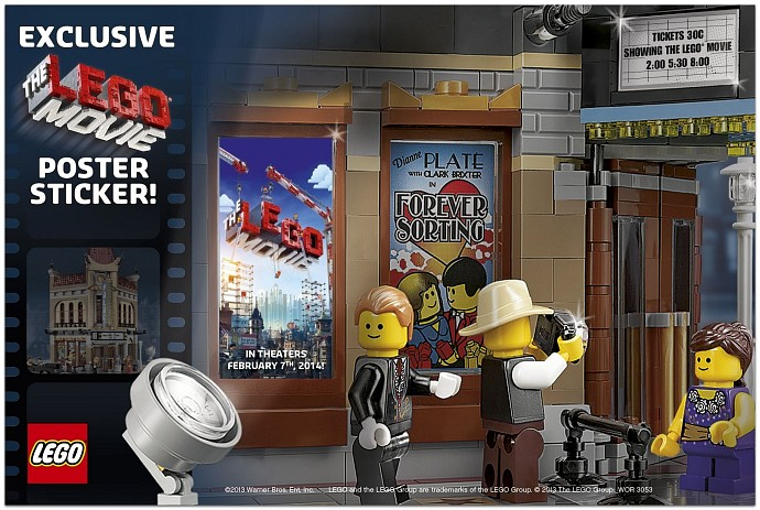 LEGO Movie Poster Sticker