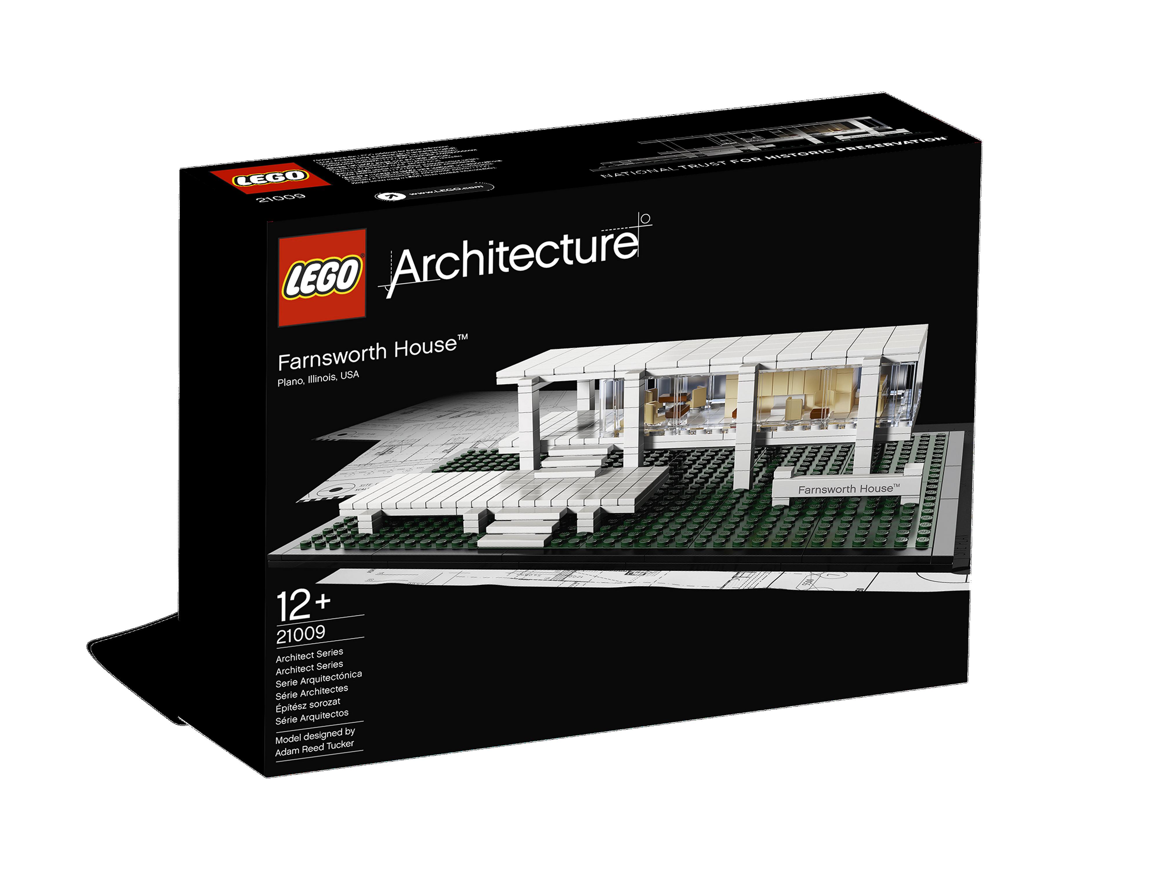 Illinois USA LEGO Architecture FARNSWORTH HOUSE 21009 Plano