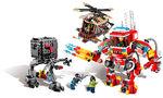 Windmühle und Feuerwehr-Roboter Verstärkung 70813 7