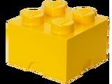 5003576 Brique de rangement jaune 4 tenons
