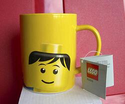 852215 Cup Mug, Minifig Head Male Pattern Yellow