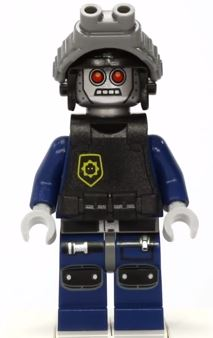 LEGO The Lego Movie Robo Swat Minifigure 70815 Mini Fig Helmet Armor
