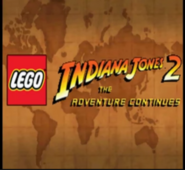 Lego indiana jones 2 the advetures continues ds title screen