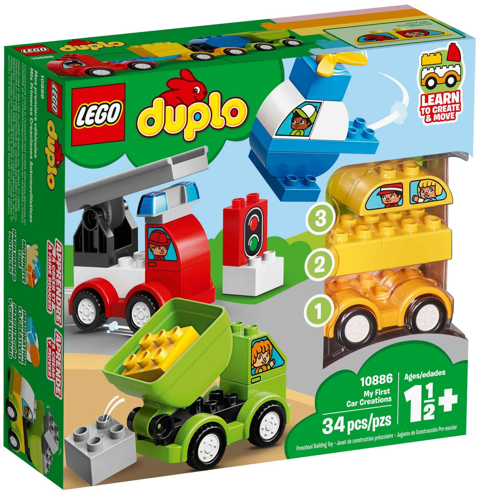 Truck Motor with Blower Bricks ~  Lego  ~ NEW ~ 2x2 Light Gray Car 2