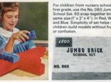 060 Jumbo Brick School Set