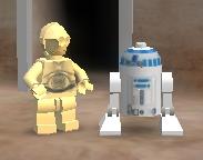 75244 Star wars C-3PO /& R2-D2 Minifigures C3PO R2D2