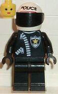 Police-Zipper with Sheriff Star, White Helmet with Police Pattern, Black Visor, Female