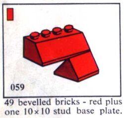 059 49 bevelled bricks