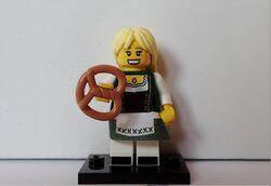 Bavarian lady with pretzel