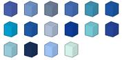 Blue Colour Chart