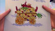 Char de fruits dessin-Le concours de chars