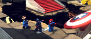 Mr. fantastic, cap and spidey 2