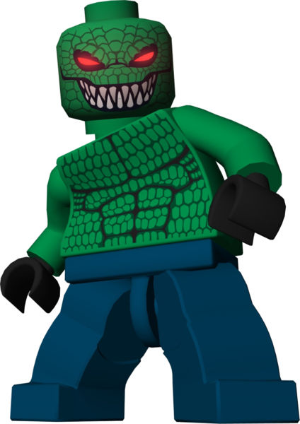 x1 LEGO 2006 7780 DC Batman I Killer Croc Minifigure Torso Only Minifig Part