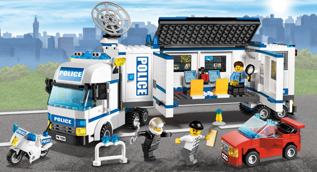 7288 l 39 unit de police mobile wiki lego fandom powered - Lego city police camion ...