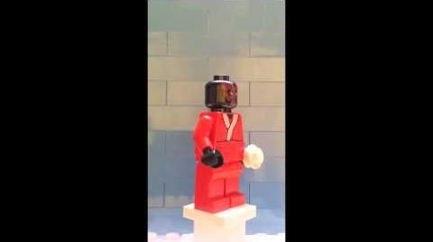 Darth Maul as Santa from LEGO 9509 Star Wars Advent Calendar - Day 24