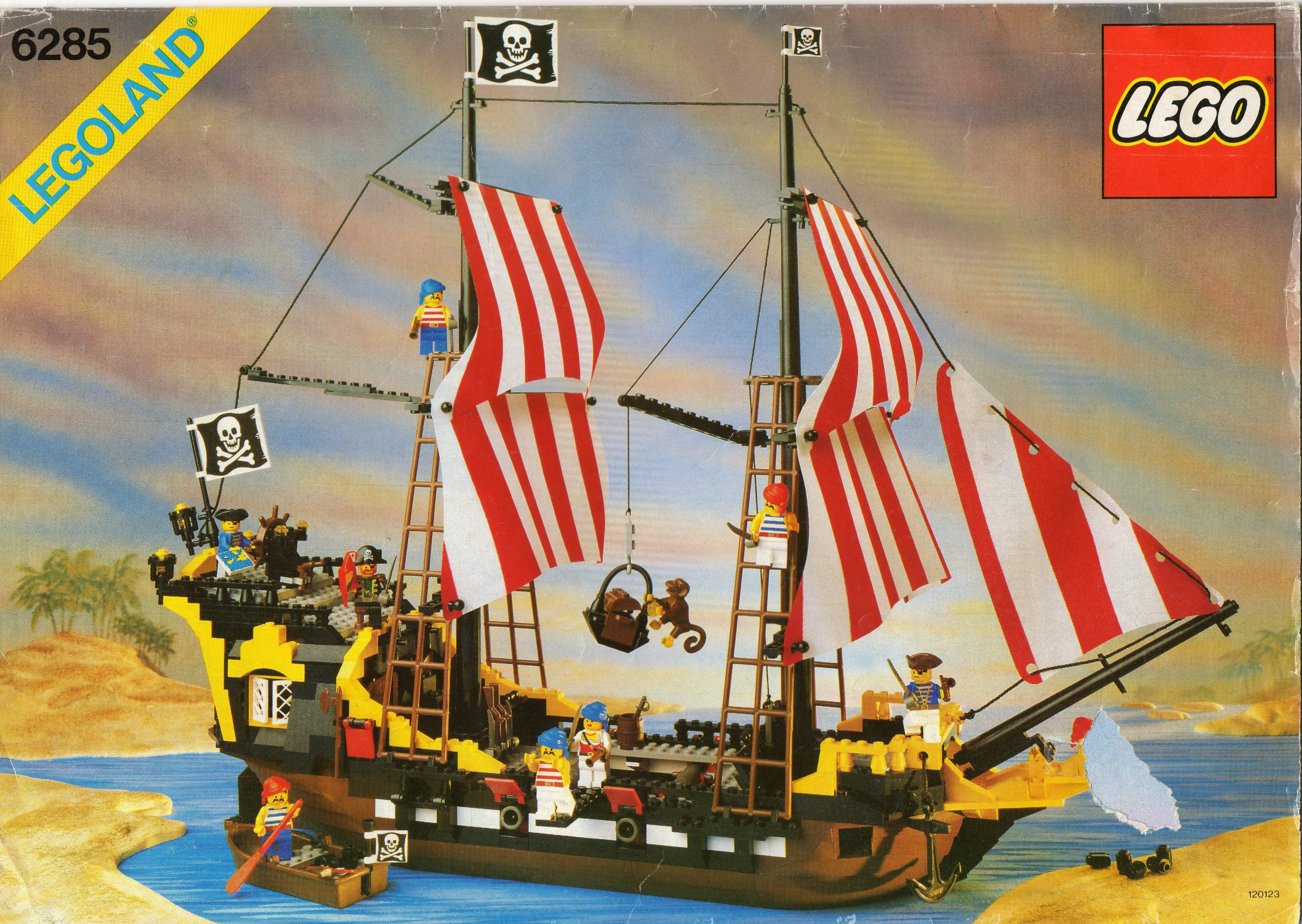Vintage Lego Yellow 6285 Pirate Ship Parts