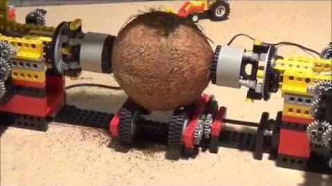 LEGO Kokosnuss knacken öffnen Maschine --- üfchen