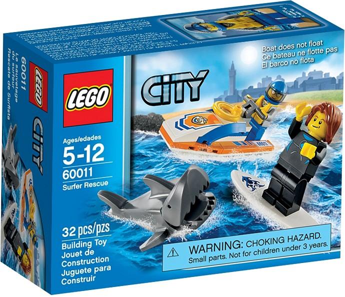 60011 surfer rescue - Lego City Bateau