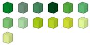 Green Colour Chart