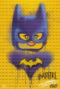 The LEGO Batman Movie Poster graffiti Batgirl
