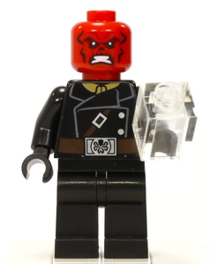 Lego Red Skull Minifig Head x 1 Red Super Hero Head for Minifigure