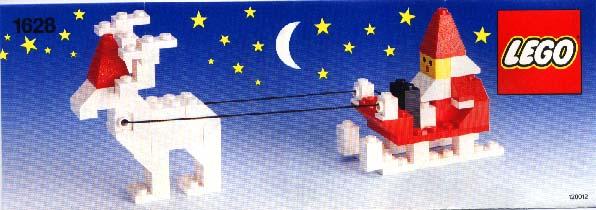 santa with reindeer and sleigh - Santa With Reindeer