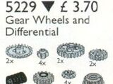 5229 TECHNIC Gear Wheels and Differential Housing
