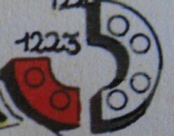 1223 2 x 2 Curved Bricks