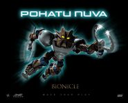 Pohatu Nuva in BIONICLE The Game - Character Name on Black 1280x1024